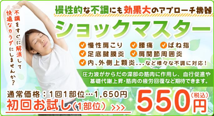 ショックマスター初回なんと500円